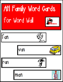 Word Family Word Wall Cards for AN Family with Pictures
