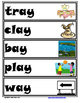 Word Family Word Wall Cards for AY Family with Pictures