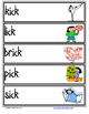 Word Family Word Wall Cards for ICK Family with Pictures