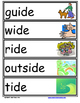 Word Family Word Wall Cards for IDE Family with Pictures
