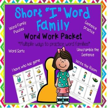 Word Family Short I Word Work