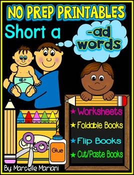 Word Family Word Work- Short A- AD Word Family NO PREP Literacy Packet