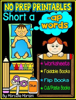 Word Family Word Work- Short A- AP Word Family NO PREP Literacy Packet