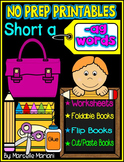 Word Family Word Work- Short A- AG Word Family NO PREP Literacy Packet