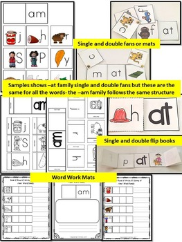 Word Family Word Work- Short A- AM Word Family Literacy Packet