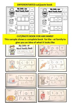 Word Family Word Work- Short A- AM Word Family NO PREP Literacy Packet