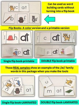 Word Family Word Work- Short A- AT Word Family Literacy Packet
