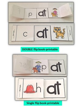 Word Family Word Work- Short A- AT Word Family NO PREP Literacy Packet