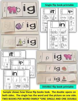 Word Family Word Work- Short I: IG, IN, IT, & IP BUNDLE PACK NO PREP