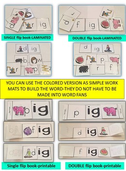 Word Family Word Work- Short I- IG Word Family Literacy Packet