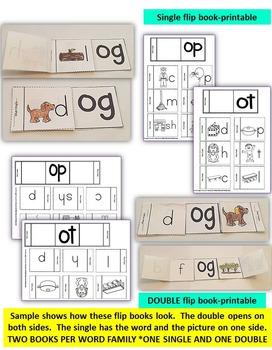 Word Family Word Work- Short O: OG, OP & OT FAMILY WORDS BUNDLE PACK NO PREP