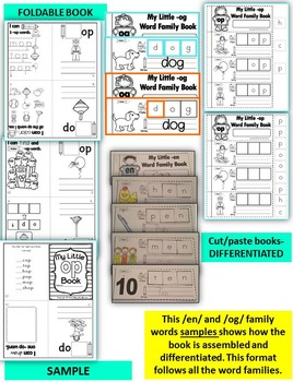 Word Family Word Work- Short O- OP Word Family NO PREP Literacy Packet