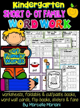 Word Family Word Work- Short O- OT Word Family Literacy Packet