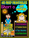 Word Family Word Work- Short O- OT Word Family NO PREP Literacy Packet