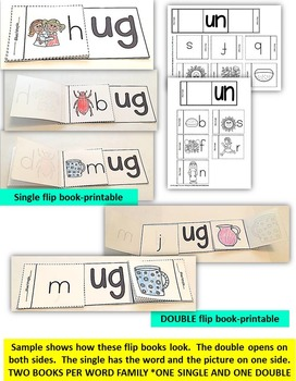 Word Family Word Work- Short U: UB, UN & UG FAMILY WORDS BUNDLE PACK NO PREP
