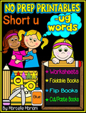 Word Family Word Work- Short U- UG Word Family NO PREP Literacy Packet