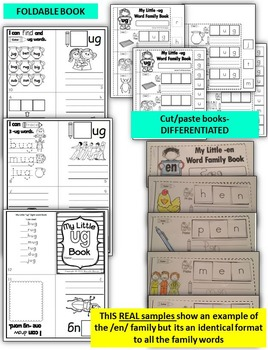 Word Family Word Work- Short U- UG Word Family NO PREP Literacy Packet