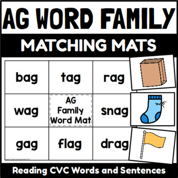 Word Family Word and Sentence Matching Mats Short Vowel Bundle