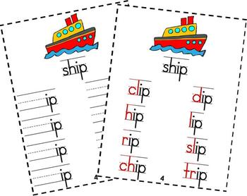 Word Family Words Under Construction-Short Vowels