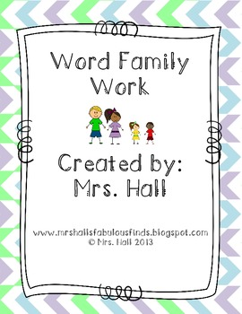 Word Family Work