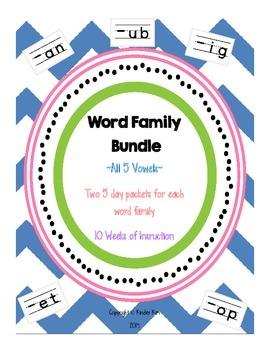 Word Family Work Bundle