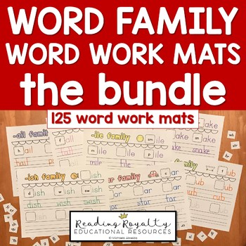 Word Family Work Mats - 80 Word Families!