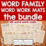 Word Family Word Work Mats BUNDLE - 113 Word Families!