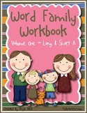 Word Family Work - Short and Long A