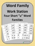 Word Family Work Stations - BUNDLE - Four Short -u Word Families In One