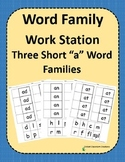 Word Family Work Stations - BUNDLE - Three Short -a Word Families In One