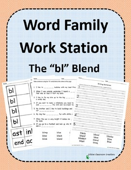 Word Family Work Stations: The -bl Blend