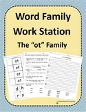 Word Family Work Stations and Independent Practice: The -ot Family