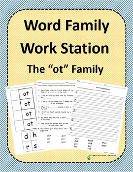 Word Family Work Stations and Independent Practice: The -o