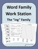 Word Family Work Stations and Independent Practice: The -ing Family