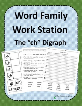 "Word Family Work Stations: ""ch"" Words"