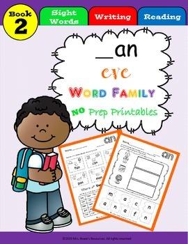 an Word Family Work CVC Words