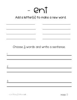 Word Family Workbook