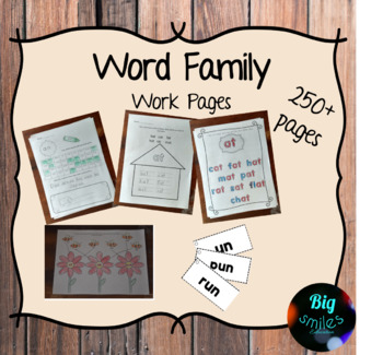 Word Family Workpages
