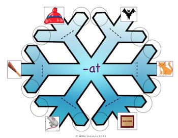 Word Family Winter Worksheets: -at -am -ar