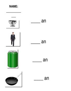 Word Family Worksheet an-at