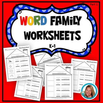 Word Family Kindergarten Worksheets Part 1
