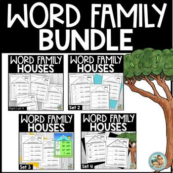 Word Family Practice Worksheets BUNDLE
