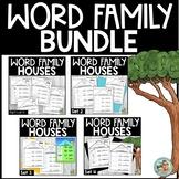Word Family Kindergarten Practice Worksheets BUNDLE