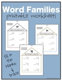 Word Family Worksheets: Early Learner