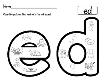 Word Family Worksheets:Find It, Color It!