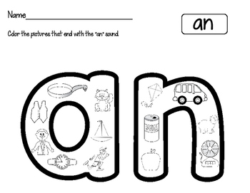 Word Family Worksheets:Find It, Color It!  Freebie