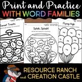 Word Family Worksheets Bundle