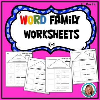 Word Family kindergarten and 1st grade Worksheets Part 2