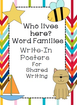 Word Family Write in Posters for Shared Writing