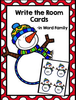 Snowman Write the Room Cards - FREEBIE
